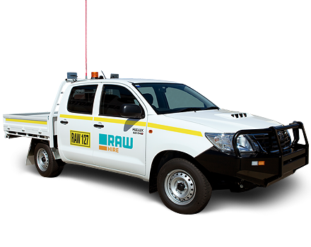 2WD Dual Cab Tray Back Ute Hire