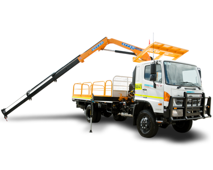 7T 4WD Crane Truck Hire
