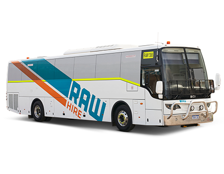 The Raw Hire 55 Seat BCI Bus ready for Long Term Vehicle Hire