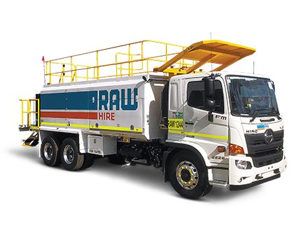 Raw Hire's Service Lube Truck. A Complete onsite fuelling truck