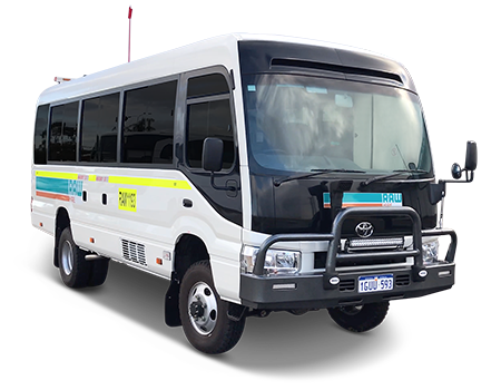 4WD Coaster Bus Hire